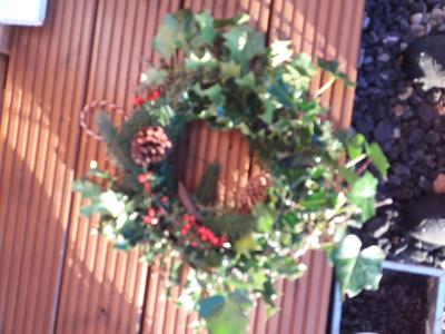 An example of a natural wreath I can make up - At a small cost of £25 each